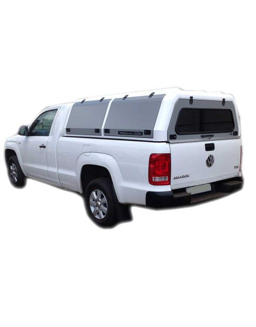 VW Amarok Single Cab Rhino Cab Canopy White - The Bush Company