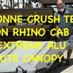 8 Tonne Destruction Test 0n Rhino Cab Ute Canopy