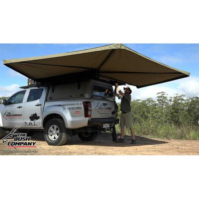 270 Gull Wing Awning - set up - The Bush Company