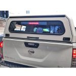 Nissan Navara D23/NP300 canopy rear view doors closed lights on